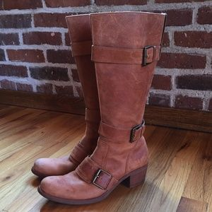 COLE HAAN Flagstaff High Boot Tan Leather 7.5